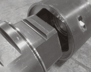 Hex Joint Drill Pipe lined up for easy assembly with two pins