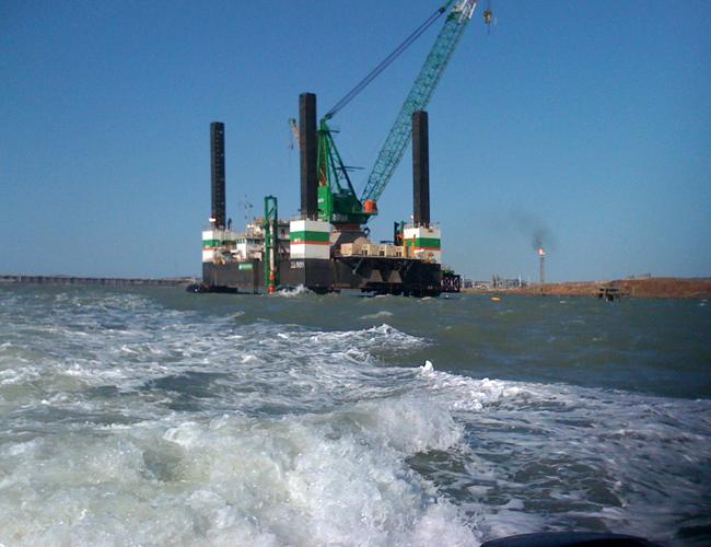Offshore Oil Platform Drilling